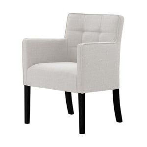 Krémová stolička s čiernymi nohami Ted Lapidus Maison Freesia
