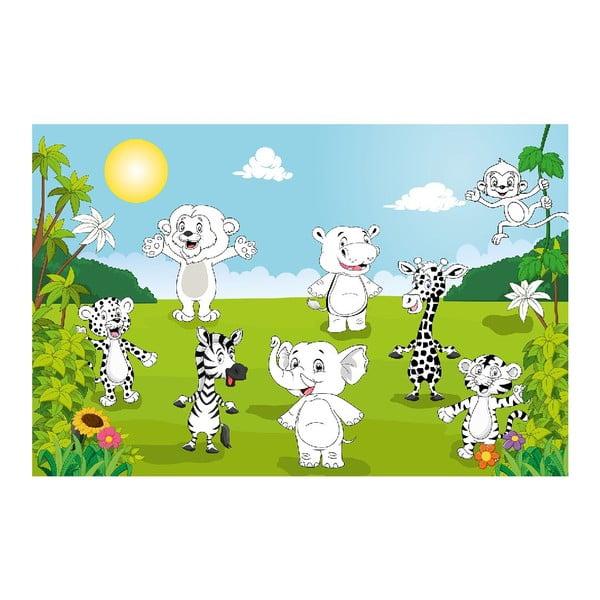Maxi omaľovánka Happy Animals, 175x115 cm