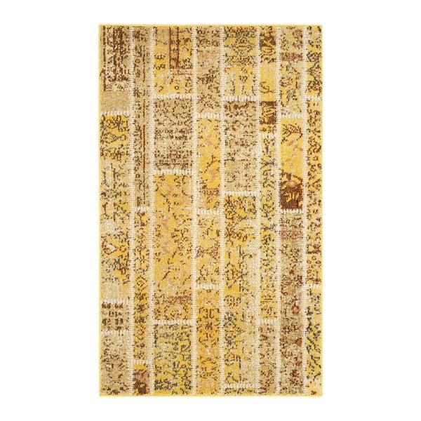 Žltý koberec Safavieh Effi, 91 x 152 cm