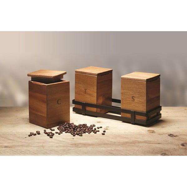 Set boxov na čaj, cukor a kávu Natural Elements