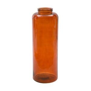 Oranžová váza z recyklovaného skla Mauro Ferretti Put, výška 70 cm