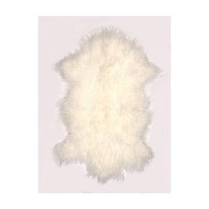 Krémovo-biely vlnený koberec z ovčej kožušiny Auskin Torry, 60×80 cm
