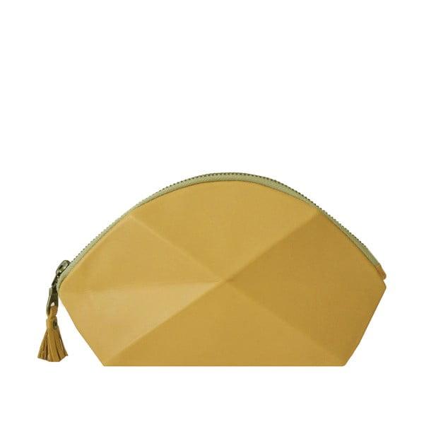 Listová kabelka/kozmetická taška Pyramid, žltá