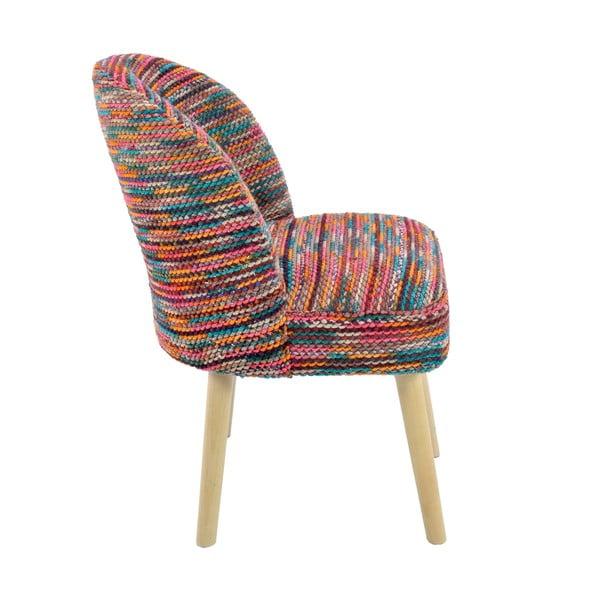 Stolička s látkovým poťahom Multi Color