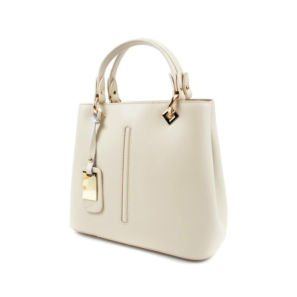 f95b10d575 Biela kožená kabelka do ruky Roberta M Lolly ...