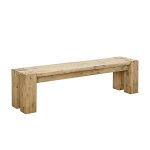 Svetlohnedá jedálenská lavica z akáciového dreva SOB Sydney