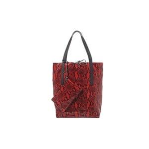 Kožená kabelka Soft Red