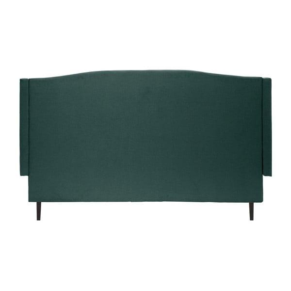 Petrolejová zelená posteľ s čiernymi nohami Vivonita Windsor, 160 x 200 cm