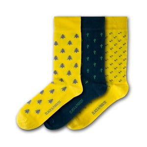 Sada 3 ponožiek Black&Parker London St Michael's Mount, veľkosť 37 – 43