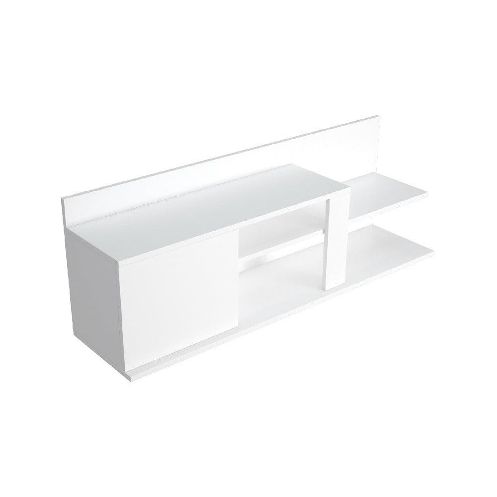 Biely TV stolík Marshall, šírka 120 cm