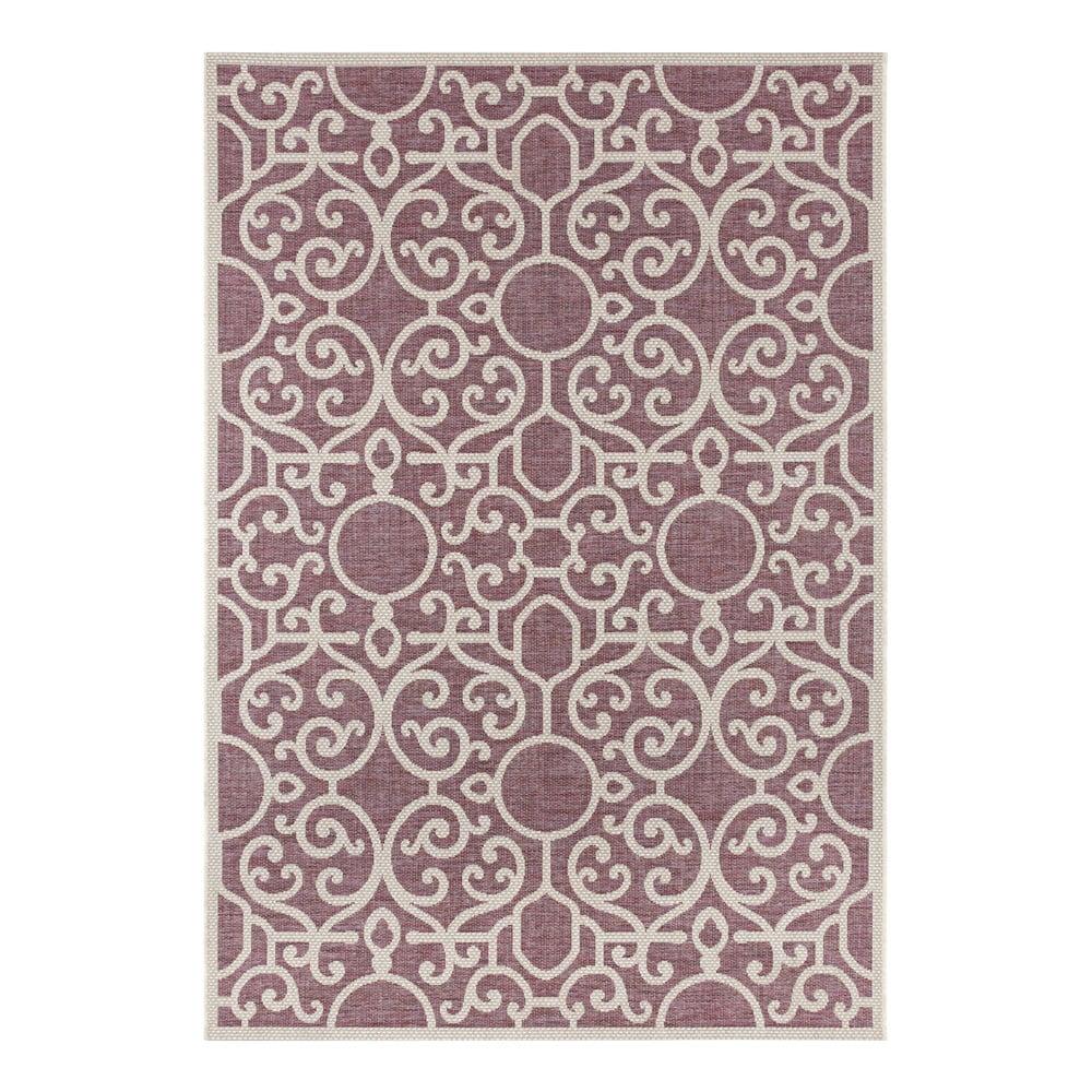 Fialovo-béžový vonkajší koberec Bougari Nebo, 140 x 200 cm