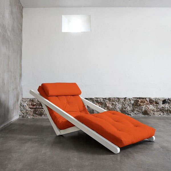 Leňoška Karup Figo, White/Orange, 70 cm