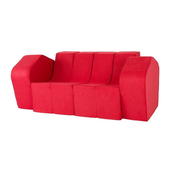 Rozkladacia multifunkčná pohovka Sofa&Bed, červená