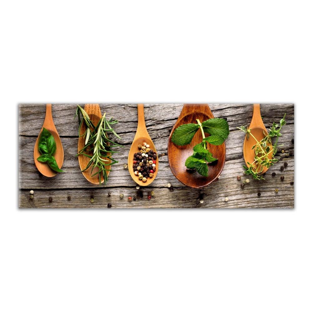 Obraz Styler Glasspik Kitchen Wooden Spoons, 30 × 80 cm