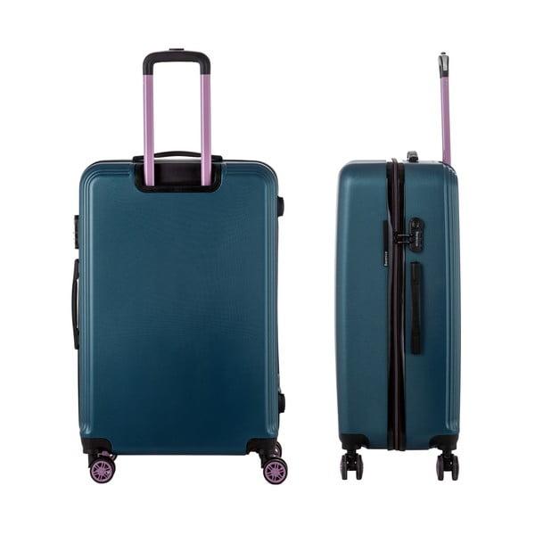 Zelený cestovný kufor Berenice Wingy, 107 l