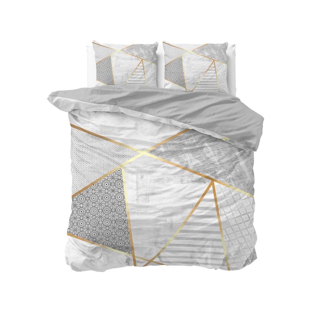 Bavlnené obliečky na dvojlôžko Pure Cotton Graphic, 200 x 200/220 cm