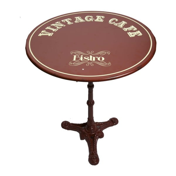 Kovový stolík Antic Line Vintage Cafe, ⌀61,5 cm