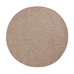Okrúhly koberec BT Carpet Wolly v hnedej farbe, ⌀ 133 cm