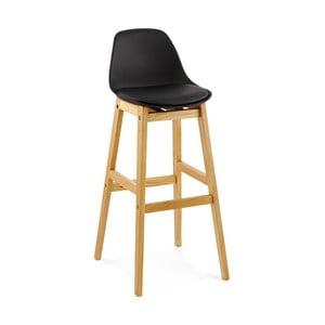 Čierna barová stolička Kokoon Elody, výška 102 cm