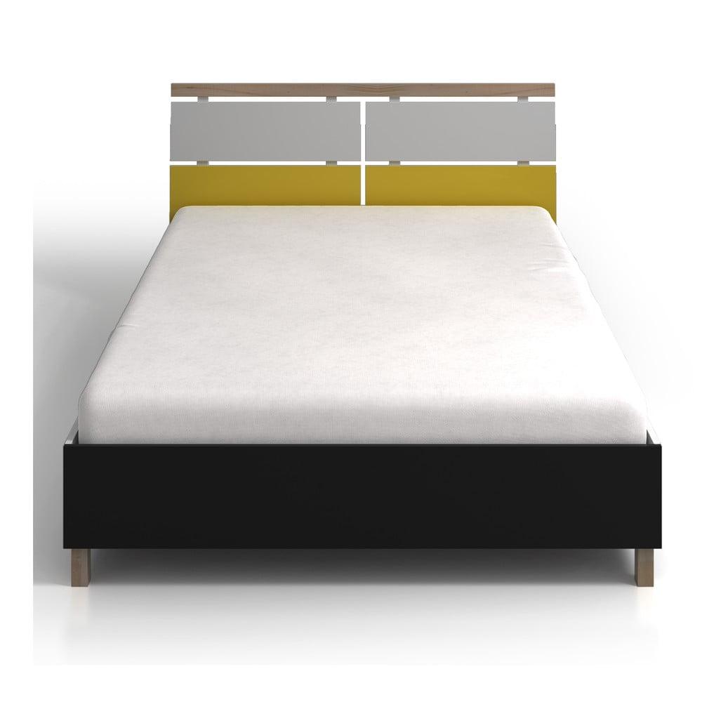de9db68abf25 Jednolôžková posteľ z borovicového a bukového dreva SKANDICA Vaxholm ...