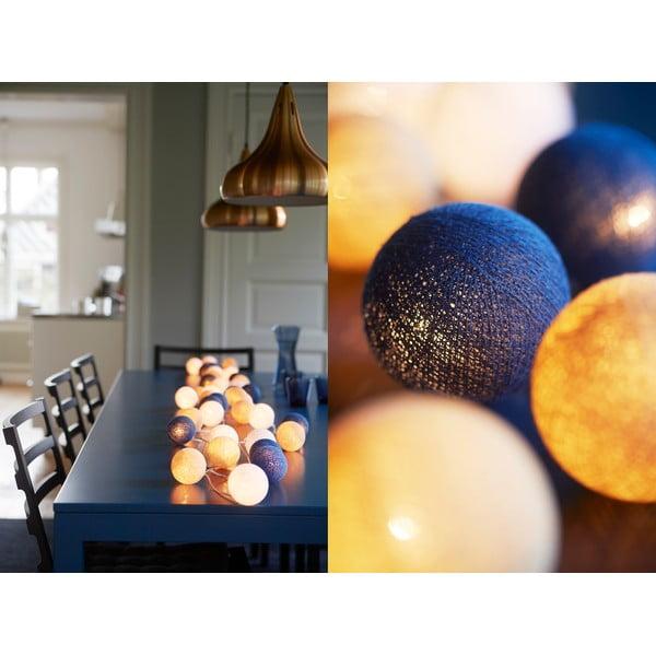 Svietiaca reťaz Nordic Blue, 35 svetielok