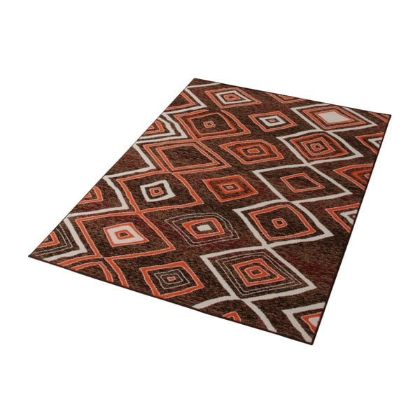 Hnedý koberec Prime Pile, 80x 50 cm