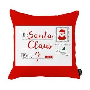 Červená vianočná obliečka na vankúš Apolena Honey Christmas Santa Claus Postcard, 45 x 45 cm
