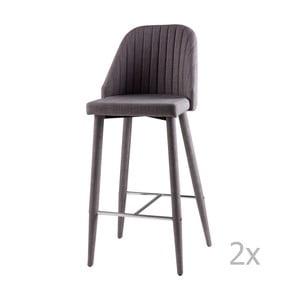 Sada 2 svetlosivých barových stoličiek sømcasa Cassie