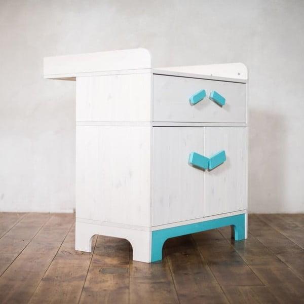 Prebaľovací pult s úložným priestorom Emo Blue