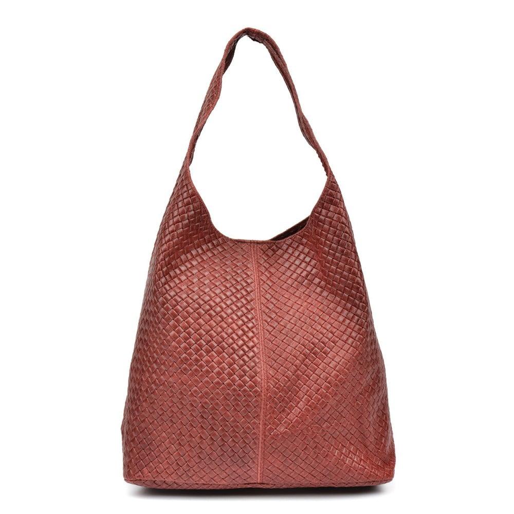Červená kožená kabelka Mangotti Bags Daniella