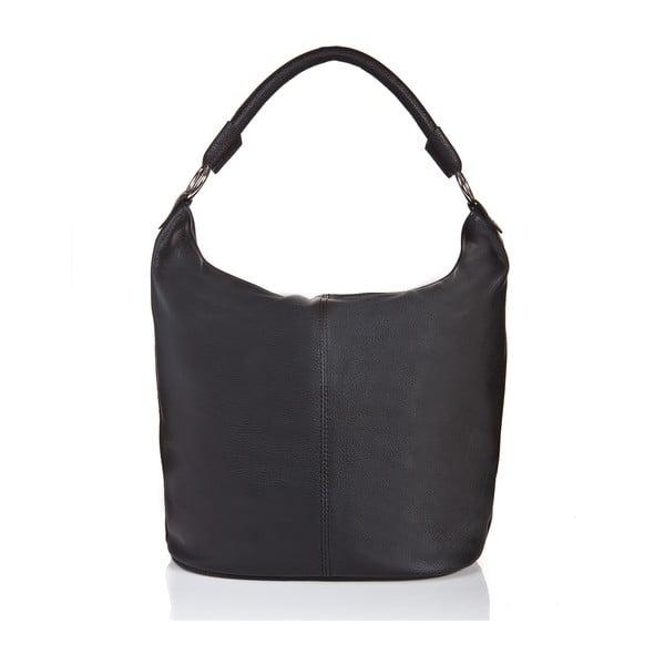 Čierna kožená kabelka Massimo Castelli Orisa