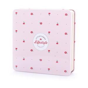 Plechový zápisník Spring, svetlo ružový