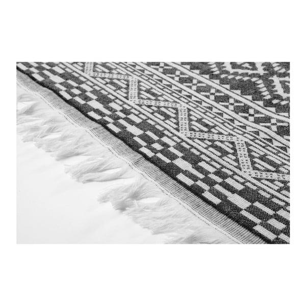 Hammam osuška Motif Black, 100x175 cm