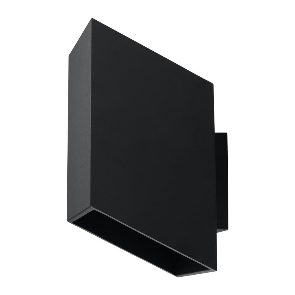 Čierne nástenné svietidlo Nice Lamps Adit