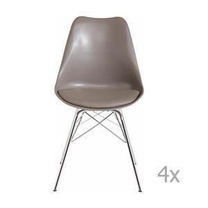 Sada 4 sivobéžových jedálenských  stoličiek Støraa Jenny
