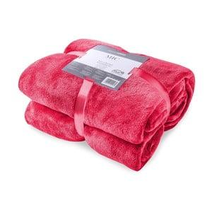 Červená deka z mikrovlákna DecoKing Mic, 200x220cm