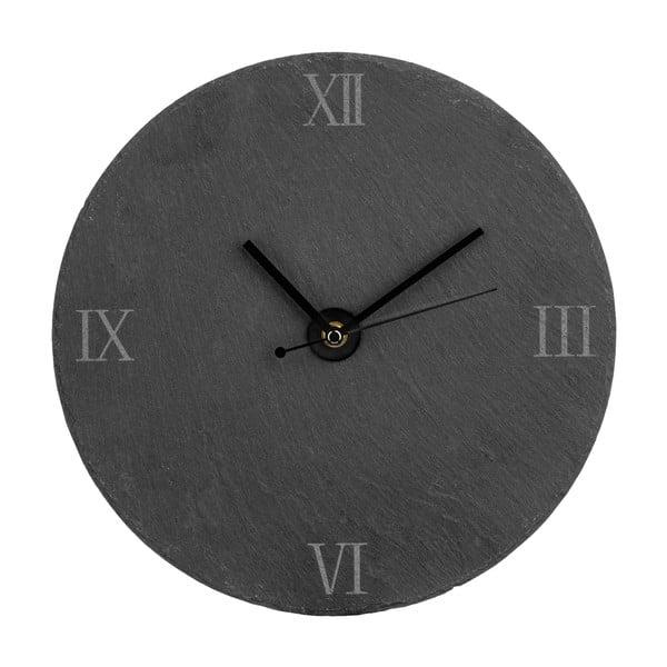 Bridlicové hodiny Slate, 30 cm
