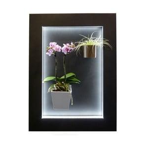 Svietiaci LED obraz 47,5x64,5 cm, čierny