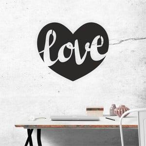 Čierna nástenná samolepiaca dekorácia North Carolina Scandinavian Home Decors Love v2, 50×41 cm