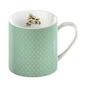 Zelený porcelánový hrnček s bodkami Creative Tops Cottage Flower, 330 ml