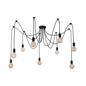 Čierne deväťramenné závesné svetlo Filament Style Spider
