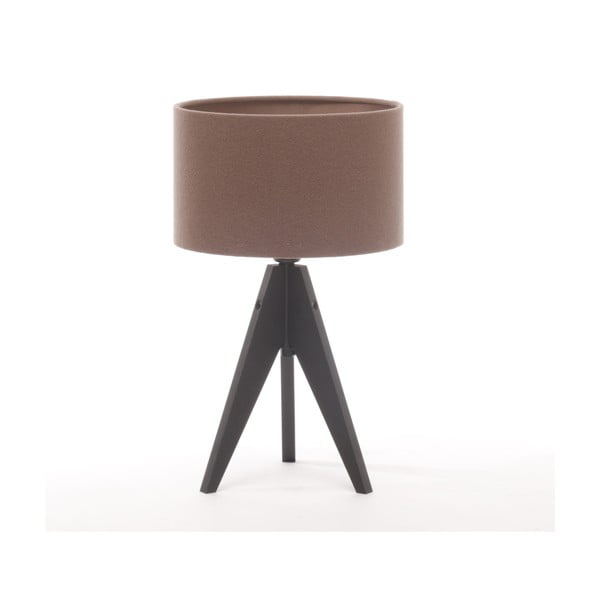Stolná lampa Arist Cylinder Dark Taupe/Black