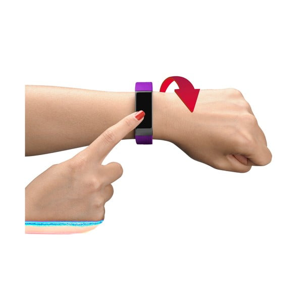 Ružovo-čierny bluetooth fitness náramok s dotykovým displejom CellularLine