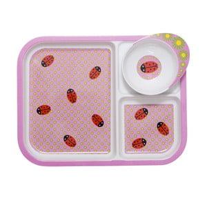Detská tácka s miskou Ladybug