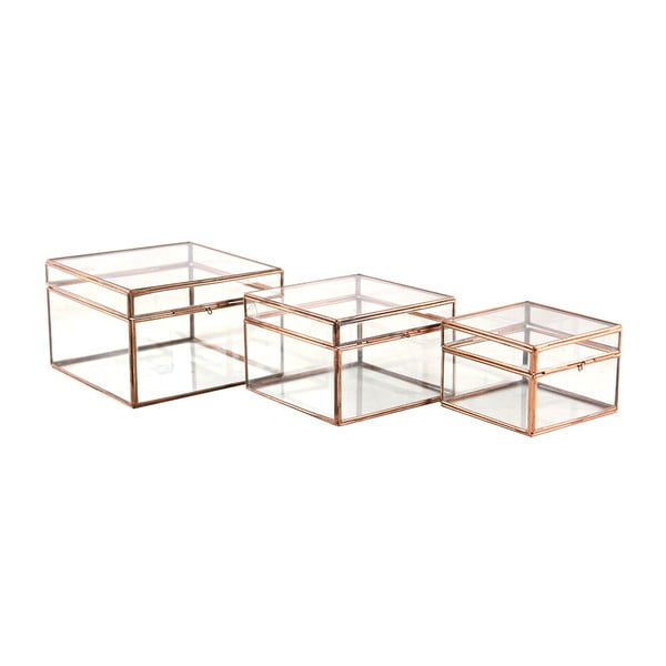 Set 3 boxů Copper Small