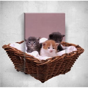 Nástenný 3D obraz Mosticx Kittens, 40×60 cm