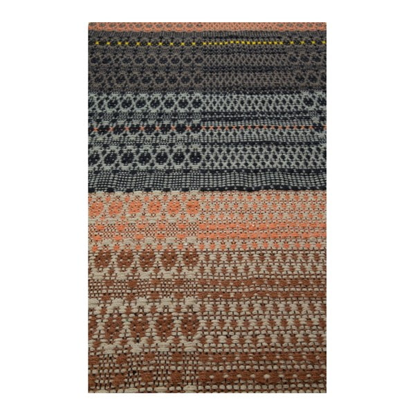 Vzorovaný běhoun Zuiver Salmon, 80 x 200 cm