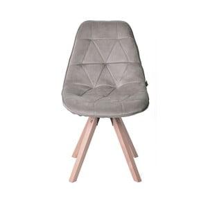 Béžová zamatová stolička Miloo Home Dolley