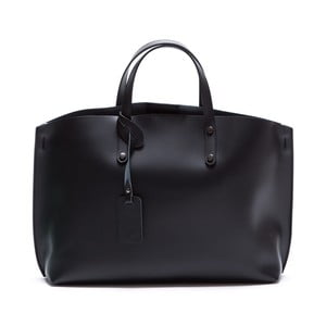Čierna kožená kabelka Luisa Vannini 3034