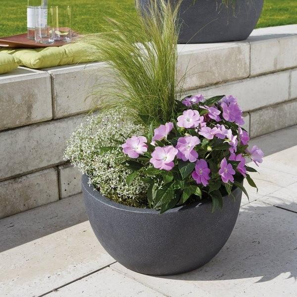 Záhradný kvetináč Globe Small 40 cm, čierny